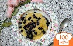 Фото рецепта: «Кукурузная каша с черникой»