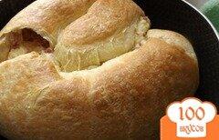Фото рецепта: «Слоеный пирог с колбасой и сыром»