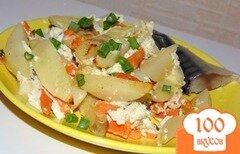 Фото рецепта: «Картофель запеченный с морковью»