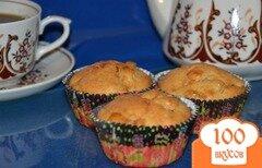 Фото рецепта: «Йогуртовые кексы с яблоком и мандарином»