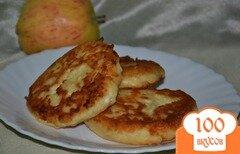 Фото рецепта: «Яблочно-ванильные сырники»