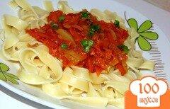 Фото рецепта: «Паста феттучини с томатным соусом»