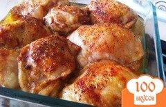 Фото рецепта: «Запечённые куриные бедрышки в остром маринаде»