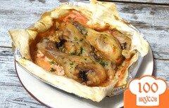 Фото рецепта: «Куриные голени запеченные в лаваше»