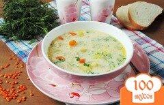 Фото рецепта: «Суп с красной чечевицей и плавленым сыром»