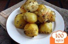 Фото рецепта: «Картофель маринованный запеченный в рукаве»