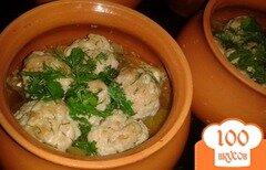 Фото рецепта: «Тефтели с овощами в горшочках»