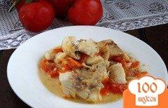 Фото рецепта: «Рыба тушеная с овощами в сковороде»