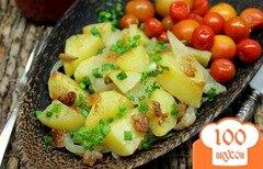 Фото рецепта: «Картофель запеченный со шкварками, кардамоном и паприкой»
