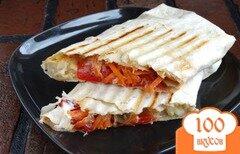 Фото рецепта: «Шаурма вегетарианская с рисом и грибами»