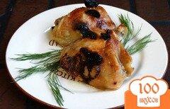 Фото рецепта: «Куриные бедра запеченные с черносливом»