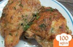 Фото рецепта: «Куриные бедра с хрустящей корочкой»