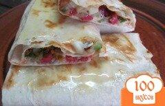 Фото рецепта: «Бутерброд в лаваше»