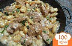 Фото рецепта: «Свинина с белой фасолью и перцем»