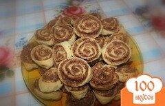 Фото рецепта: «Печенье Шоколадные розочки»