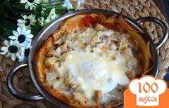 Фото рецепта: «Сытный завтрак на блине»