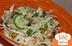 Фото рецепта: «Капустный салат с куриным мясом»