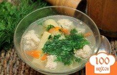 Фото рецепта: «Суп с фрикадельками и макаронами»