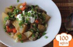 Фото рецепта: «Картофель с грибами в рукаве»