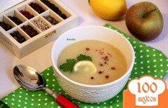 Фото рецепта: «Суп-пюре картофельный, с сельдереем и яблоком»
