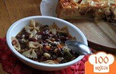 Фото рецепта: «Фасоль, тушенная с пастой и овощами»