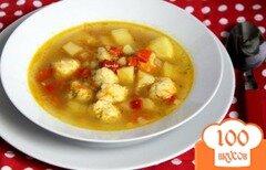 Фото рецепта: «Овощной суп с сырными шариками»