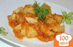 Фото рецепта: «Картофель с овощами тушенный в томате»