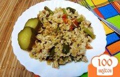 Фото рецепта: «Рис с индейкой и спаржевой фасолью»
