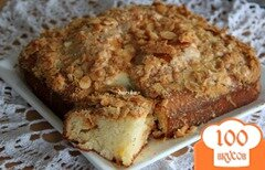 Фото рецепта: «Ванильный кекс с миндально-сахарным штрейзелем»