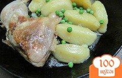 Фото рецепта: «Тушенная курица с картофелем»