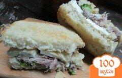 Фото рецепта: «Бутерброд с мясом и брокколи»