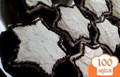 Фото рецепта: «Пряники медово-шоколадные с глазурью»