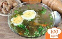 Фото рецепта: «Зеленый борщ со щавелем и черемшой»