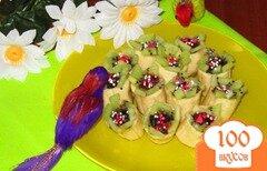 """Фото рецепта: «Десерт """"Райский цветок""""»"""