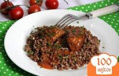 Фото рецепта: «Ароматные котлетки в нежном томатном соусе»