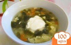 Фото рецепта: «Щавелевый суп на курином бульоне»
