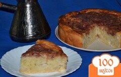 Фото рецепта: «Сливочно-ванильный пирог с яблоками и клюквенным джемом»