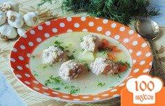 Фото рецепта: «Суп с освяными хлопьями и фрикадельками»