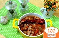Фото рецепта: «Фасоль со свининой в томатном соусе»