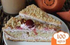 Фото рецепта: «Торт с творожно-клубничным кремом»