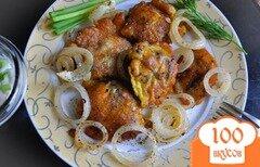 Фото рецепта: «Куриная печень в хрустящем пивном кляре»