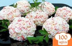 Фото рецепта: «Закусочные сырно-крабовые шарики»