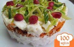 Фото рецепта: «Салат из риса с мясом и брынзой»