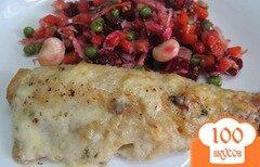 Фото рецепта: «Филе хека запеченное под сыром»