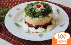 Фото рецепта: «Тёплый салат с овощами, рисом и яйцом»
