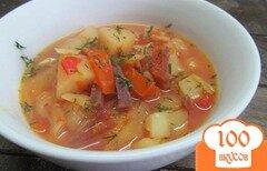 Фото рецепта: «Борщ с маринованными овощами»