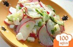 Фото рецепта: «Салат из редиса и огурца»