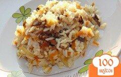Фото рецепта: «Рис с шампиньонами и овощами»
