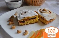 Фото рецепта: «Пирог с вишней и яблоком»