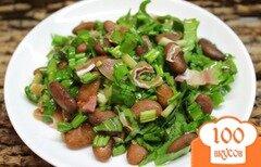 Фото рецепта: «Салат с красной фасолью и копченостями»